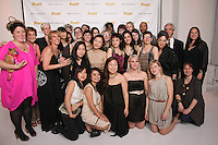 Pratt Institute graduating designers, and staff pose together at the Pratt 2011 fashion show and cocktail reception, honoring Hamish Bowles, April 27 2011.