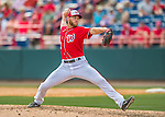 3 March 2016: Washington Nationals pitcher Taylor Jordan on the mound during a Spring Training pre-season game against the New York Mets at Space Coast Stadium in Viera, Florida. The Nationals defeated the Mets 9-4 in Grapefruit League play. Mandatory Credit: Ed Wolfstein Photo *** RAW (NEF) Image File Available ***