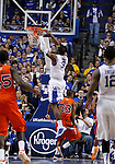 Terrence Jones makes a dunk in the second half of UK's win over the Auburn Tigers at Rupp Arena on Jan. 11, 2011. Photo by Britney McIntosh | Staff