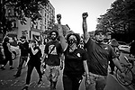Weekly protest &quot;people's Monday&quot; in Harlem 115th street, 2nd ave. Each Monday they march to call out police brutality and those killed by police. <br /> They use Twitter to get their message out under #PeoplesMonday and #blacklivesmatter. July 11, 2016. <br /> Photo by Yunghi Kim/ Contact Press Images