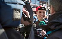 Edward Theuns (BEL/Trek-Segafredo) pre race sporza interview<br /> <br /> 72nd Dwars door Vlaanderen 2017