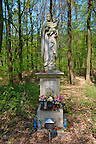 Religious staue of Mary in the forest near Koszeg, Hungary