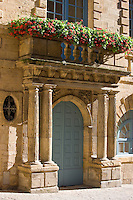 Traditional doorway in popular picturesque Sarlat in the Dordogne, France