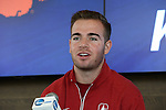 12 December 2015: Stanford's Sam Werner. The NCAA held a press conference at Three Points at the Sporting Kansas City offices one day before the Clemson University Tigers play the Stanford University Cardinal in a 2015 NCAA Division I Men's College Cup championship match.