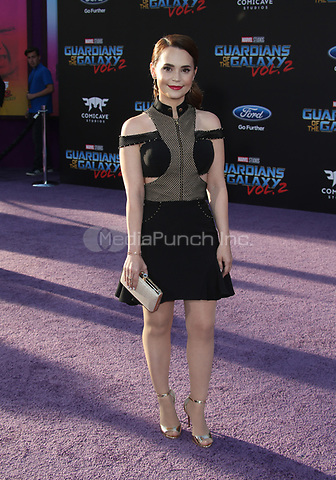 "HOLLYWOOD, CA - April 19: Rosanna Ransino, At Premiere Of Disney And Marvel's ""Guardians Of The Galaxy Vol. 2"" At The Dolby Theatre  In California on April 19, 2017. Credit: FS/MediaPunch"