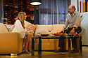 """London, UK. 30.09.2014. """"Speed-the-Plow"""", by David Mamet, directed by Lindsay Posner, starring Lindsay Lohan, opens at the Playhouse Theatre. Picture shows: Lindsay Lohan (Karen) and Richard Schiff (Bobby Gould). Photograph © Jane Hobson."""