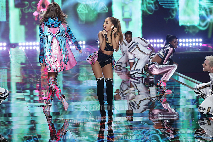 Ariana Grande on the runway at the Victoria's Secret Fashion Show 2014 London held at Earl's Court, London. 02/12/2014 Picture by: James Smith / Featureflash