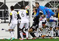 WASHINGTON, D.C - March 08 2014: D.C. United vs the Columbus Crew in an MLS match at RFK Stadium, in Washington D.C. Columbus won 3-0.