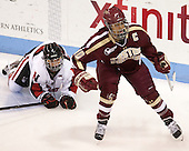 (DiMasi) Blake Bolden (BC - 10) - The Northeastern University Huskies defeated Boston College Eagles 4-3 to repeat as Beanpot champions on Tuesday, February 12, 2013, at Matthews Arena in Boston, Massachusetts.