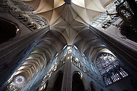 Transept and nave, Amiens Cathedral, 13th century, Amiens, Somme, Picardie, France. Picture by Manuel Cohen