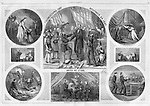 &quot;Thanksgiving Day, 1864,  United We Stand&quot; Harper's Weekly November , 1864  by Thomas Nast Civil War; Holidays and Celebrations; President Lincoln Elected to second term; freed slaves in Maryland; soldiers in the field
