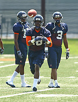 Quintin Hunter during open spring practice for the Virginia Cavaliers football team August 7, 2009 at the University of Virginia in Charlottesville, VA. Photo/Andrew Shurtleff