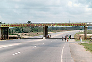 June, 1977. Havana, Cuba. Eighteen years after the Cuban Revolution the first U.S. tourists were permitted to visit Havana. Highway in Alamare District.