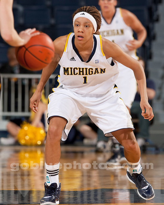 The University of Michigan women's basketball team lost to Iowa, 58-57, at Crisler Center in Ann Arbor, Mich., on February 16, 2012.
