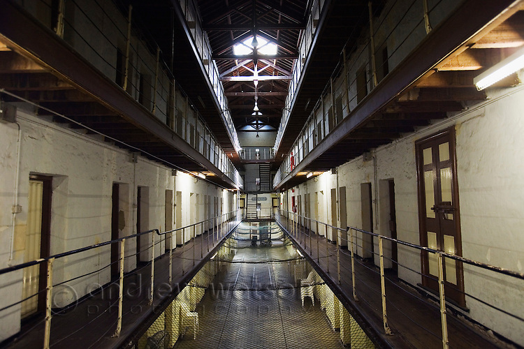 Cell block of the Old Fremantle Prison.  Built by convict labour the prison operated from 1855 to 1991.  Fremantle, Western Australia, AUSTRALIA.