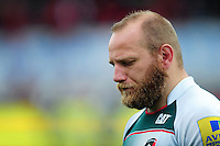 Leonardo Ghiraldini of Leicester Tigers leaves the field dejected after the match. Aviva Premiership semi final, between Saracens and Leicester Tigers on May 21, 2016 at Allianz Park in London, England. Photo by: Patrick Khachfe / JMP