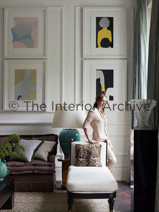 Sofia Barattieri di San Pietro in her living room