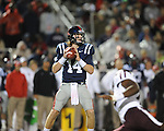 Ole Miss quarterback Bo Wallace (14) passes vs. Texas A&amp;M in Oxford, Miss. on Saturday, October 6, 2012. Texas A&amp;M won 30-27...