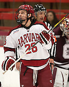 Luke Greiner (Harvard - 26) - The Harvard University Crimson defeated the Colgate University Raiders 4-1 (EN) on Friday, February 15, 2013, at the Bright Hockey Center in Cambridge, Massachusetts.