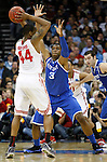Terrence Jones guards William Buford in the Sweet 16 round game of the 2011 NCAA Basketball Tournament, at the Prudential Center, in Newark, NJ, on Saturday, March 25, 2011.  Photo by Latara Appleby | Staff
