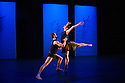 """London, UK. 27.02.2014. Yorke Dance Project presents a triple bill of work in the Lilian Baylis Studio, Sadler's Wells. Picture shows Jonathan Goddard, and Hannah Windows in Charlotte Edmonds's """"No Strings Attached"""". Photograph © Jane Hobson."""