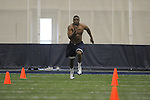 Mississippi football player Jonathan Cornell at Pro Day in the IPF in Oxford, Miss. on Tuesday, March 22, 2011.