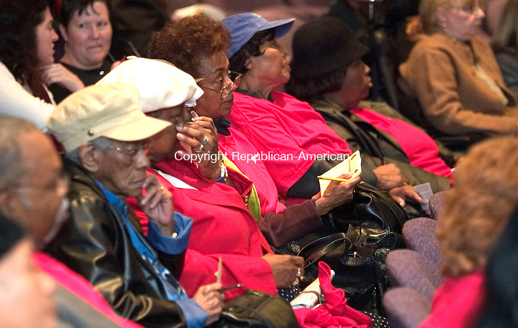 HARTFORD, CT. 25 October 2006--102506SV05--Seniors with AARP of Connecticut listen during a forum on Money Follows the Person at the Legislative Office Building in Hartford Wednesday. Steven Valenti Republican-American