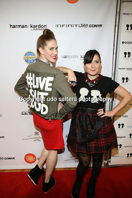 Cassandra Bankson and Designer Stacy Igel -Arrivals-Boy Meets Girl By Stacy Igel At New York Fashion Week Style360, NY   2/13/13