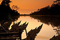 The moat around Angkor Thom is said to have once contained fierce crocodiles