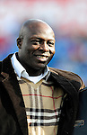 29 November 2009: Buffalo Bills' Hall of Fame Member Bruce Smith is honored with the presentation of his HOF ring during a game fans against the Miami Dolphins at Ralph Wilson Stadium in Orchard Park, New York. The Bills defeated the Dolphins 31-14. Mandatory Credit: Ed Wolfstein Photo