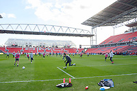 Toronto, ON, Canada - Friday Dec. 09, 2016: Seattle Sounders FC during training prior to MLS Cup at BMO Field.