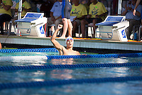 Santa Clara, California - Friday June 3, 2016: Sun Yang celebrates after his win in the Men's 200 LC Meter Freestyle final.
