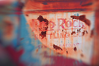 Red Rock Bottling Company Truck Door - Motor Transport Museum - Campo, CA - Lensbaby