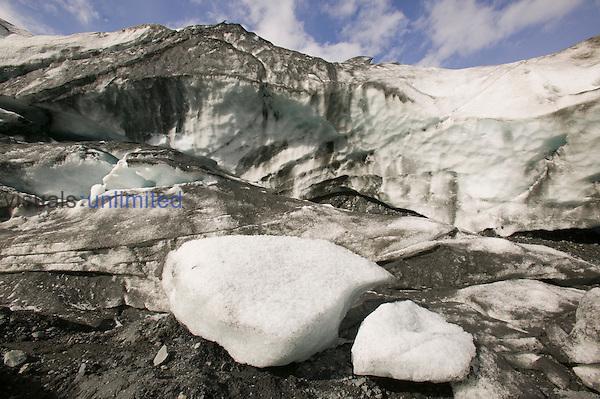 Exit Glacier is receding, Kenai Fjords National Park Alaska, USA