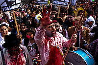 Revellers take part in the annual Zombie Walk in Buenos Aires October, 2013. Photo by Juan Gabriel Lopera / VIEWpress.