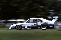 BRAINERD, MN - JULY 11: Rick Mears drives the Team Zakspeed Roush Ford Mustang Turbo during the Pepsi Grand Prix IMSA GT race at the Brainerd International Raceway near Brainerd, Minnesota, on July 11, 1982.