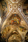 The Spainsih Baroque sytle chapel roof of The Amalfi Cathedral, Italy