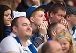 St Johnstone v Rosenborg....25.07.13  Europa League Qualifier<br /> Nervous saints fans watch the last few minutes<br /> Picture by Graeme Hart.<br /> Copyright Perthshire Picture Agency<br /> Tel: 01738 623350  Mobile: 07990 594431