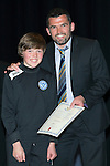 St Johnstone FC Youth Academy Presentation Night at Perth Concert Hall..21.04.14<br /> Callum Davidson presents to Callum Kay<br /> Picture by Graeme Hart.<br /> Copyright Perthshire Picture Agency<br /> Tel: 01738 623350  Mobile: 07990 594431