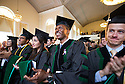 Nkem Aziken, second from right, Felicia Bahadue. Commencement, class of 2013.
