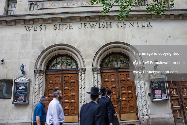 The West Side Jewish Center is pictured in the New York City borough of Manhattan, NY, Monday May 12, 2014. Congregation Beth Israel West Side Jewish Center is an Orthodox congregation located at 347 West 34th Street, Manhattan, New York, in the Garment District  near Penn Station.
