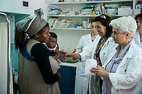 A free primary care clinic run by Medicins du Monde in the Omonia district of Athens 13-6-12 It had originally been set up to to cater for refugees and migrants but increasingly it was being used by poor Greek people unable to afford medicine from state run hospitals.