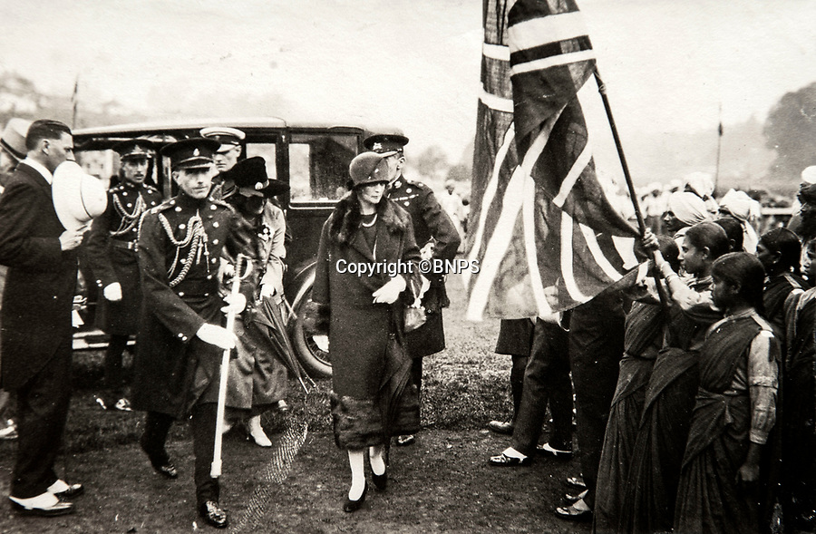 BNPS.co.uk (01202 558833)<br /> Pic: PhilYeomans/BNPS<br /> <br /> Flying the flag- Lady Goschen and her daughter meets Indian Girl Guides.<br /> <br /> Last Days of the Raj - A fascinating family album from one of the last Viceroy's of India reveal Britain's 'Jewel in the Crown' in all its splendour.<br /> <br /> The family album of Viscount George Goschen has been unearthed after 90 years, and provide's an amazing snapshot of the pomp and pageantry of a wealthy and powerful British family in India in the 1920s and 30's.<br /> <br /> They show the Governor of Madras and his family enjoying a lavish lifestyle of parades, banquets and hunting and horse racing in the last decades of the Raj.<br /> <br /> At the time, Gandhi was organising peasants, farmers and labourers to protest against excessive land-tax and discrimination. <br /> <br /> The album consists of some 300 large photographs. They have remained in the family for 90 years but have now emerged for auction following a house clearance and are tipped to sell for &pound;200.