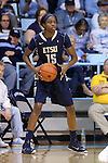 02 January 2015: ETSU's Serena Clark. The University of North Carolina Tar Heels hosted the East Tennessee State University Buccaneers at Carmichael Arena in Chapel Hill, North Carolina in a 2014-15 NCAA Division I Women's Basketball game. UNC won the game 95-62.