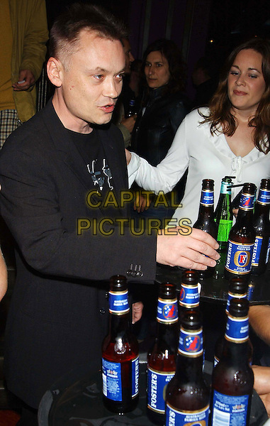 TERRY CHRISTIAN.Soho Shorts film prizegiving.at Sound, Leicester Square.sales@capitalpictures.com.www.capitalpictures.com.©Capital Pictures.drinking beer