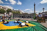 """12.06.2014 - """"Brazil I Do Care"""" - Demo in Trafalgar Square"""