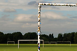 Football goal posts, East London the site of the 2012 Olympic Games village and arena, Hackney Marsh, Stratford, England 2006.