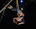 London, UK. 11.01.2016. Ockham's Razor present TIPPING POINT, at Platform Theatre, as part of the London International Mime Festival. Picture shows: Alex Harvey, Emily Nicholl. Photograph © Jane Hobson.