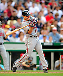 3 July 2009: Atlanta Braves left fielder Matt Diaz in action against the Washington Nationals at Nationals Park in Washington, DC. The Braves defeated the Nationals 9-8 to take the first game of the 3-game weekend series. Mandatory Credit: Ed Wolfstein Photo