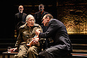 EMBARGOED UNTIL 10PM 16.06.16. London, UK. 13.06.2016. Richard II, by William Shakespeare, directed by Rupert Goold, opens at the Almeida Theatre. Starring Vanessa Redgrave as Queen Margaret and Ralph Fiennes as Richard, Duke of Gloucester. Picture shows: Vanessa Redgrave (Queen Margaret), Ralph Fiennes (Richard, Duke of Gloucester). Back: Finbar Lynch (Duke of Buckingham), Joseph Mydell (Lord Stanley). Photograph © Jane Hobson.